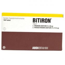 Купить Битирон, Bitiron (аналог Новотирал, Тиреотом) табл. 50 12,5мкг №100 в Екатеринбурге