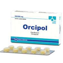 Купить Орципол (Ципрофлоксацин, Орнидазол) таблетки N10  в Екатеринбурге