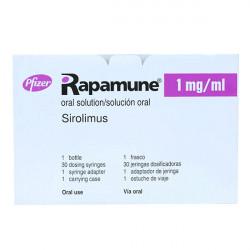 Купить Рапамун (Сиролимус) раствор для приема внутрь 1мг/мл 60мл в Екатеринбурге