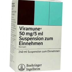 Купить Вирамун (Невирапин) сироп для новорожденных (суспензия) 50мг/5мл 240мл в Екатеринбурге